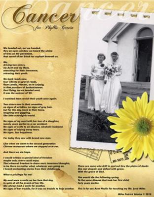 Cancer poem on a beautiful layout