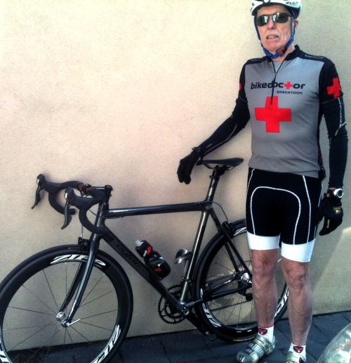 Murray Smith with his new Cyfac Absolu bike - Toronto 2012